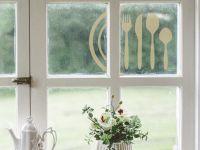 Glassticker | Fensterdesign Tischgedeck | Tischgedeckornament