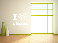 I love shoes 2 Wandtattoo