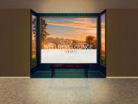 Sichtschutzfolie | Fensterbanner Wellnesslounge | Wellnessloungedesign
