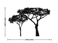 Glasdekorfolie | Fenstersticker Savannenbäume | Savannenbäumenmuster