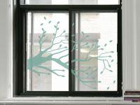 Glastattoo | Glassticker Herbstlicher Ast | Herbstwindoptik