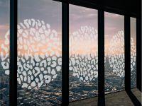 Folie | Fensterdekor Leopardenmusterkreise | Leopardenkreisenoptik